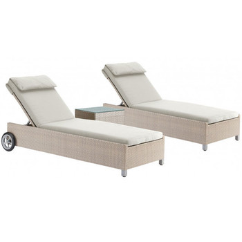 Cubix Outdoor 3 piece Chaise Lounge Set