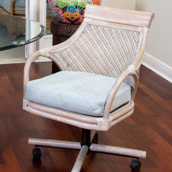 Bermuda Tilt Swivel Caster Chair in Rustic Driftwood finish