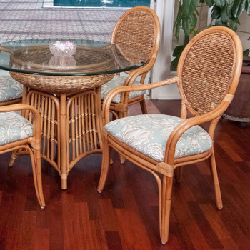 Havana Dining Arm Chair in Antique Honey finish