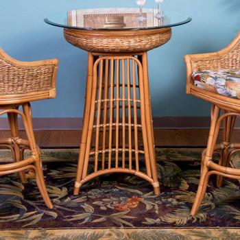 Havana Pub Set in Sienna Finish in Antique Honey Finish