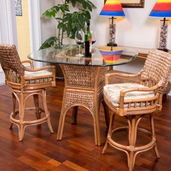 Key Largo 3 piece  Counter Set in Antique Honey finish