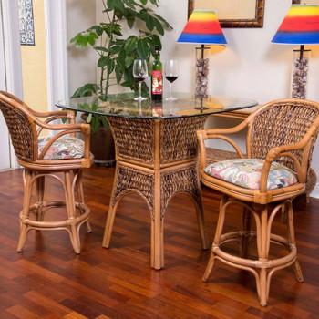 Panama 3 piece Counter Set in Antique Honey finish
