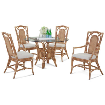 Bay Walk 5 piece Round Dining Set in Natural finish