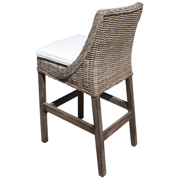 Exuma Barstool in a cotton blend fabric