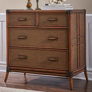 Palm Island Four Drawer Split Chest