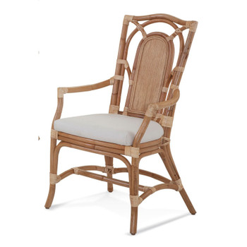 Bay Walk Dining Armchair in fabric '863-91 A' and Natural finish