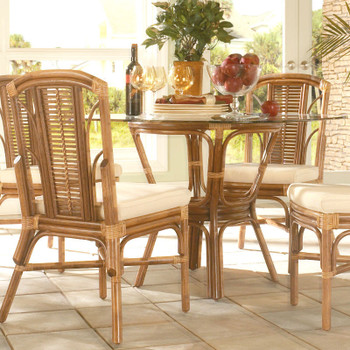 Bayview Dining Table With Bevelled Glass Top