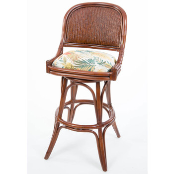 Cayman Armless Swivel Barstool in Sienna finish