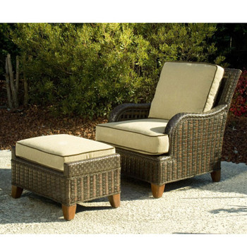 Lake Geneva Outdoor 2pc Chair and Ottoman