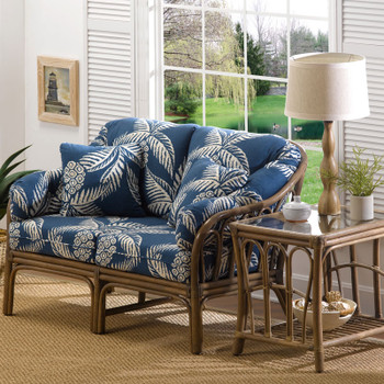 Bimini Loveseat and End Table with glass top