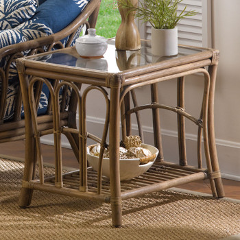 Bimini End Table with Glass Top