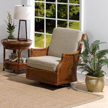 Edgewater Swivel Glider from Classic Rattan