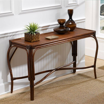 Whitney Console Table with Glass Top