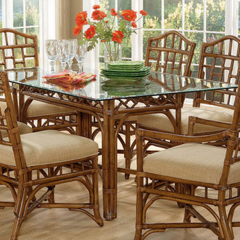 Chippendale Rectangular Dining Table in Havana Finish