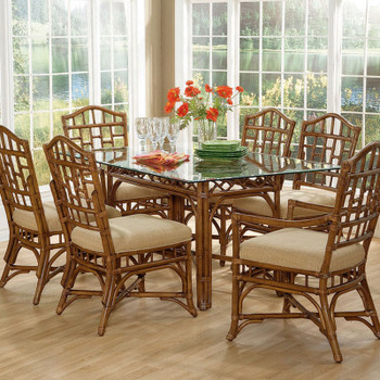 Chippendale 7 piece  Rectangular Dining Room Set  in Havana finish