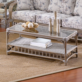 Ocean View Coffee Table with Glass Top