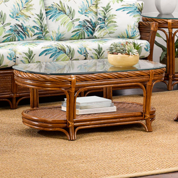 South Shore Coffee Table with Glass Top