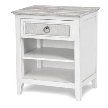 Captiva Island 1-drawer Nightstand in Grey Wash/Blanc finish
