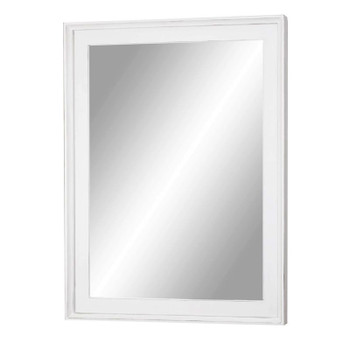 Captiva Island Mirror in Blanc finish
