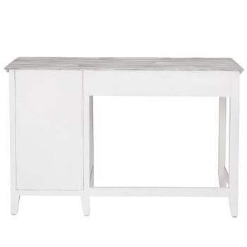 Back of Captiva Island Desk in Grey Wash/Blanc finish