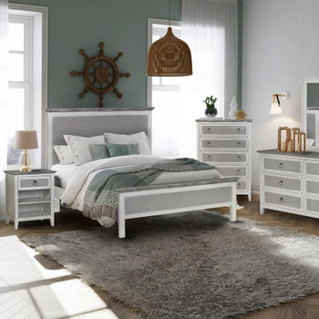 Captiva Island Bedroom Collection in Grey Wash/Blanc finish