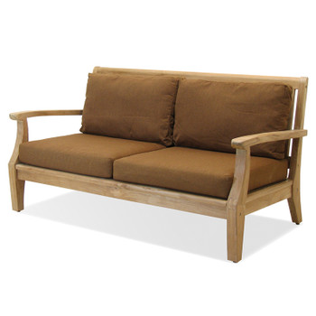 The Laguna Outdoor Sofa is made from plantation teak.