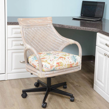 Bermuda Tilt Swivel Caster Office Chair in Rustic Driftwood finish