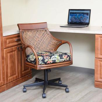Bermuda Tilt Swivel Caster Office Chair in Sienna finish