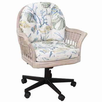 Bridgeport Tilt Swivel Caster Office Chair in Rustic Driftwood finish