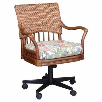 Key Largo Tilt Swivel Caster Office Chair in Sienna finish