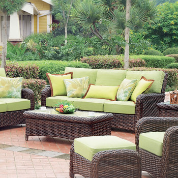 Saint Tropez Outdoor 6 piece Seating Set in Tobacco finish
