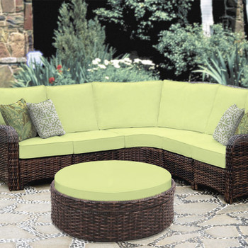 Saint Tropez Outdoor 6 piece Sectional Set in Tobacco finish