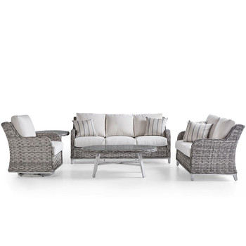 Grand Isle Outdoor 5 piece Seating Set in Soft Granite finish