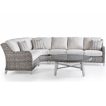 Grand Isle Outdoor 5 piece Sectional Set in Soft Granite finish