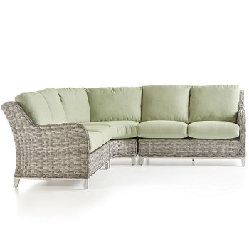 Grand Isle Outdoor 3 piece Sectional Set in Soft Granite finish