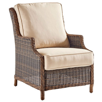 Barrington Outdoor Lounge Chair in Chestnut finish