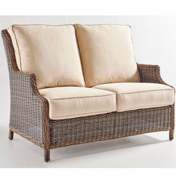Barrington Outdoor Loveseat in Chestnut finish