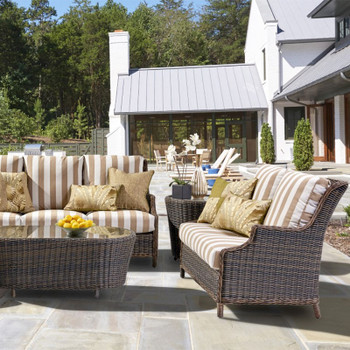 Barrington Outdoor Seating Collection in Chestnut finish
