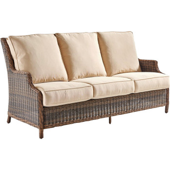 Barrington Outdoor Sofa in Chestnut finish