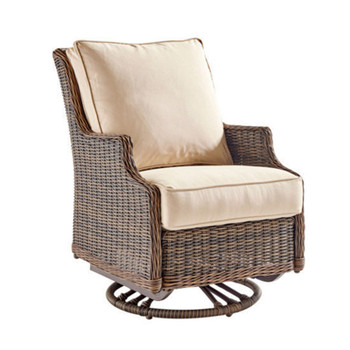 Barrington Outdoor Swivel Glider in Chestnut finish