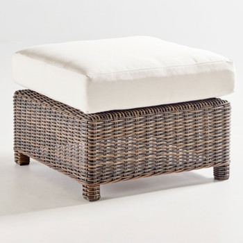 Barrington Outdoor Ottoman in Chestnut finish