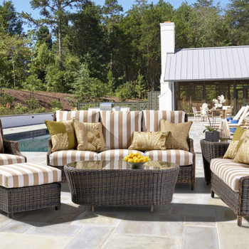 Barrington Outdoor 6 piece Seating Set in Chestnut finish