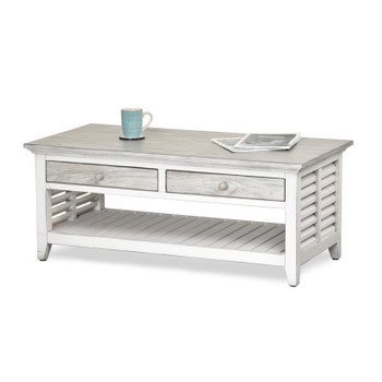 Islamorada Coffee Table  in Dapple Grey / Blanc finish