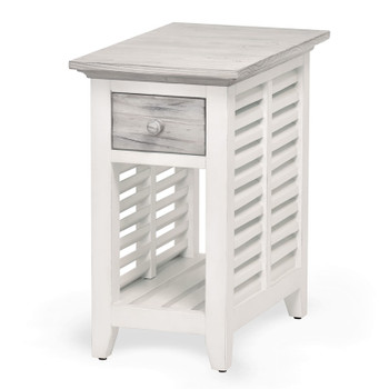 Islamorada Chairside Table in Dapple Grey / Blanc finish