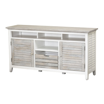 Islamorada Entertainment Center in Dapple Grey/ Blanc finish