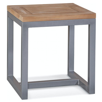 Alghero Outdoor End Table  with Teakwood top