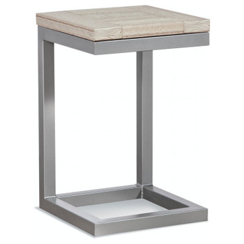 Alghero Outdoor Side Table with Antique Birch top