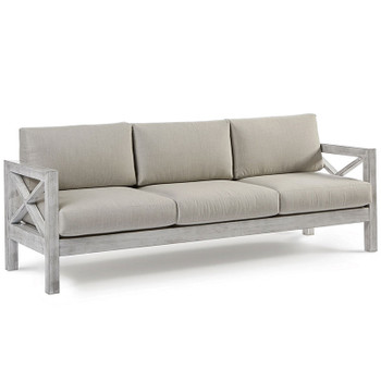 Farlowe Outdoor Sofa in brushed white finish