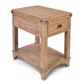 Artisan Landing Chairside Table in Sun Weathered finish