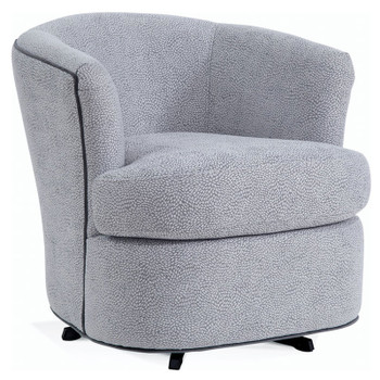 Ashby Swivel Tub Chair  in fabric '0499-83 E' with contrast welt in fabric '0911-82 B'